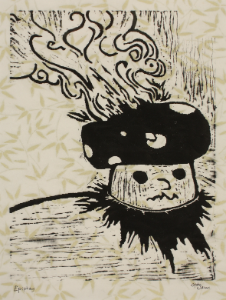 Epiphany by Gabe Williams, Linoleum Block Print