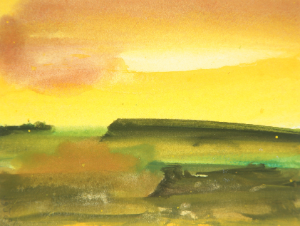 Untitled Landscape by John White, Water Color